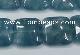 CEQ166 15.5 inches 20*20mm square blue sponge quartz beads