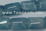 CEQ174 15.5 inches 15*20mm rectangle blue sponge quartz beads
