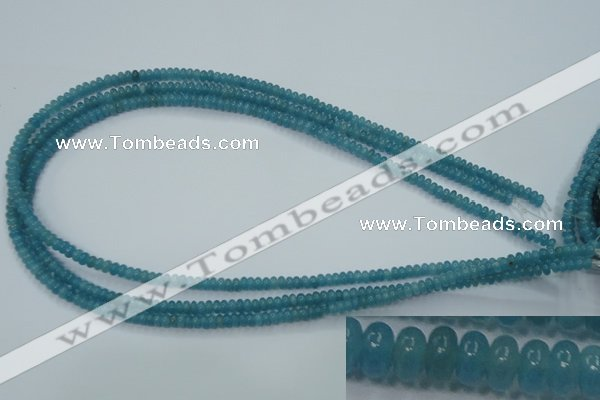 CEQ21 15.5 inches 2*4mm rondelle blue sponge quartz beads