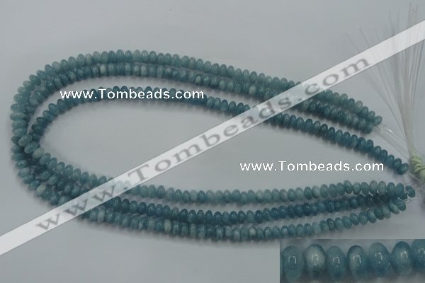 CEQ22 15.5 inches 4*6mm rondelle blue sponge quartz beads