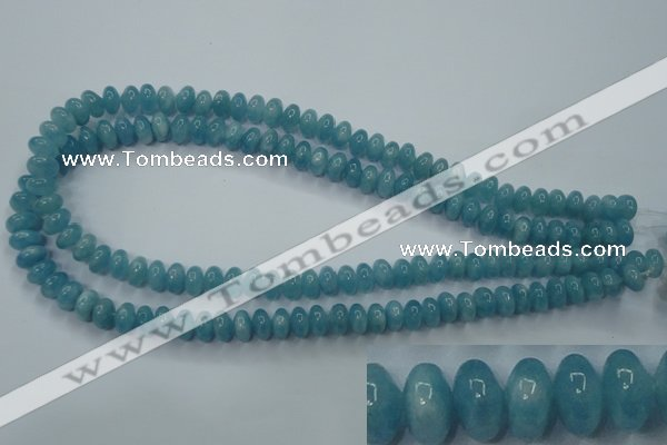 CEQ23 15.5 inches 5*8mm rondelle blue sponge quartz beads