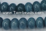 CEQ26 15.5 inches 10*14mm rondelle blue sponge quartz beads