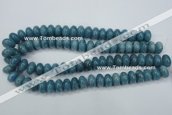 CEQ28 15.5 inches 10*16mm rondelle blue sponge quartz beads