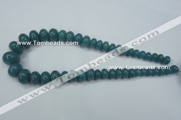 CEQ30 15.5 inches 7*10 � 15*20mm rondelle blue sponge quartz beads