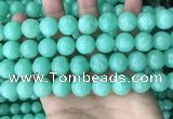 CEQ304 15.5 inches 12mm round green sponge quartz beads