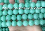CEQ305 15.5 inches 14mm round green sponge quartz beads