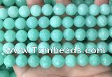 CEQ313 15.5 inches 10mm faceted round green sponge quartz beads