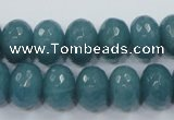 CEQ36 15.5 inches 10*14mm faceted rondelle blue sponge quartz beads