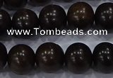 CEY54 15.5 inches 12mm round ebony wood beads wholesale