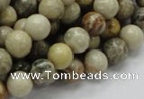 CFA03 15.5 inches 10mm round chrysanthemum agate gemstone beads