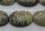 CFA216 15.5 inches 20*30mm oval chrysanthemum agate beads