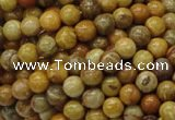 CFA31 15.5 inches 6mm round yellow chrysanthemum agate beads