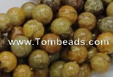 CFA33 15.5 inches 10mm round yellow chrysanthemum agate beads