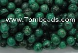 CFA66 15.5 inches 6mm round green chrysanthemum agate beads