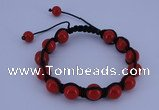 CFB501 10mm round candy jade beads adjustable bracelet wholesale