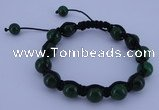 CFB502 10mm round candy jade beads adjustable bracelet wholesale