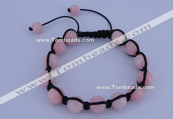 CFB504 10mm round candy jade beads adjustable bracelet wholesale