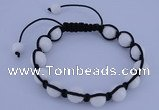 CFB505 10mm round candy jade beads adjustable bracelet wholesale