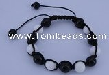 CFB506 10mm round candy jade beads adjustable bracelet wholesale