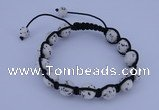 CFB508 10mm round turquoise beads adjustable bracelet wholesale