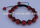 CFB510 10mm round turquoise beads adjustable bracelet wholesale