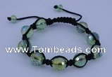 CFB523 12mm faceted round crystal beads adjustable bracelet wholesale