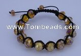 CFB535 8*12mm faceted rondelle crystal beads adjustable bracelet wholesale