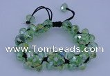 CFB581 8*10mm faceted rondelle crystal beads adjustable bracelet