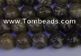 CFC212 15.5 inches 8mm round grey fossil coral beads wholesale