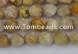 CFC236 15.5 inches 6mm faceted nuggets fossil coral beads