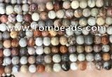 CFC341 15.5 inches 6mm round red fossil coral beads wholesale