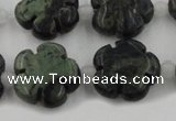 CFG1027 15.5 inches 16mm carved flower kambaba jasper beads