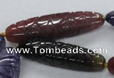 CFG1116 15.5 inches 13*50mm - 13*65mm carved rice agate beads