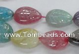 CFG1121 15.5 inches 15*20mm carved leaf agate gemstone beads