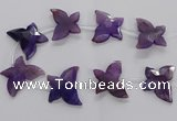 CFG1248 15.5 inches 30*45mm - 35*45mm carved butterfly agate beads