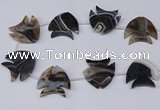 CFG1261 15.5 inches 38*42mm - 42*45mm carved fish agate beads