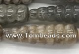 CFG1530 15.5 inches 10*35mm carved teardrop moonstone beads