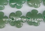 CFG215 15.5 inches 20mm carved flower green aventurine beads