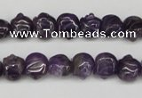 CFG59 15.5 inches 8*10mm carved pig-shaped amethyst gemstone beads