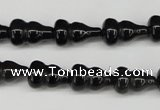 CFG67 15.5 inches 10*15mm carved calabash obsidian gemstone beads