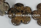 CFG680 15.5 inches 30mm carved flower bronzite gemstone beads