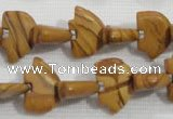 CFG779 15.5 inches 10*15mm carved animal grain stone beads