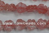 CFG884 15.5 inches 12mm carved flower cherry quartz beads
