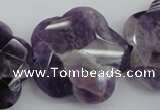 CFG914 15.5 inches 32*33mm faceted & carved flower dogtooth amethyst beads