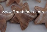 CFG928 15.5 inches 30*33mm carved star moonstone beads