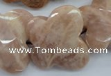 CFG933 15.5 inches 30*33mm faceted & carved butterfly moonstone beads
