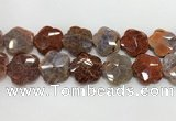CFG979 15.5 inches 33*33mm carved flower fire agate beads