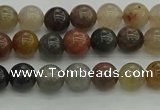 CFJ200 15.5 inches 4mm round fancy jasper beads wholesale