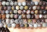 CFJ252 15.5 inches 8mm faceted round fantasy jasper beads wholesale