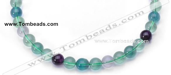 CFL08 20mm round AA grade natural fluorite beads Wholesale